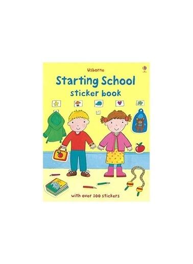 The Usborne The Usborne  School Sticker Book Beyaz